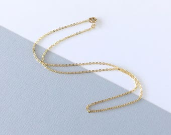 DELICATE THIN Necklace 14k gold filled, ultra dainty layering necklace, perfect minimalistic thin golden necklace, by Little Motives
