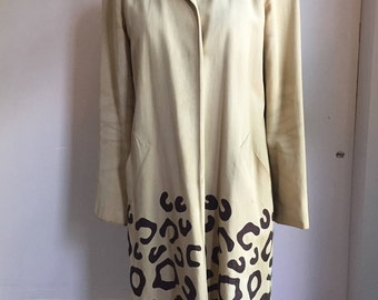 1990's Moschino Leopard Trench Coat
