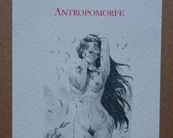 Portfolio-10 engravings-ANTROPOMORFE - DANILO ANTONIUCCI limited edition 13/100-signed, numbered and certificate of authenticity erotic art