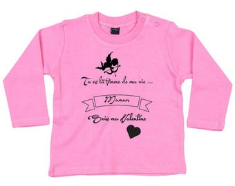 "Personalized baby ""Valentine's day MOM"" tshirt"