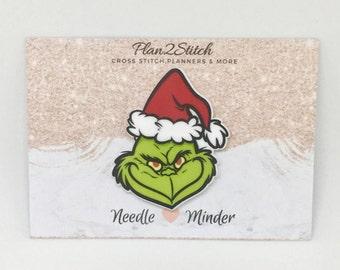 Grinch Christmas  Needle Minder