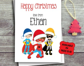 Kids Christmas Card Packs, Children's Multipack Personalised Christmas, Festive Greeting Cards, Set Of Cards, Free UK Shipping