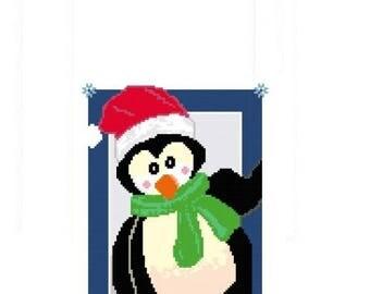 Santa Penguin Cross Stitch Chart