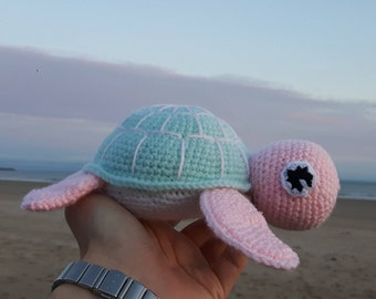 Amigurumi Turtle, Stuffed Animal, Soft Toy, Sea Turtle, Handmade Crotchet Toy, Sea Creature