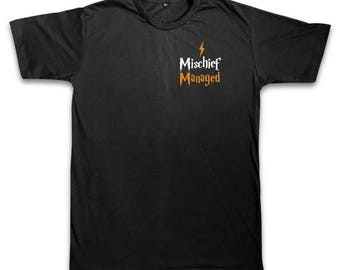 Mischief Managed Shirts,Potter Merchandise,Harry potter T-shirt