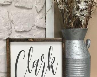 Last Name. Custom. Established Date. Wood Sign. Wood Framed Sign. Wood Frame. Rustic. Farmhouse. Wall Decor. Home Decor.