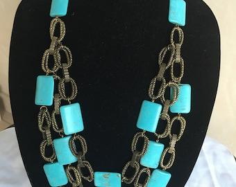 Turquoise   Necklace by Dobka