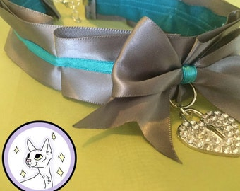Silver And Turquoise Collar/ Choker