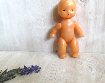 Vintage toy doll 1980s Collectible soviet Childs doll Made in USSR Retro Plastic Soviet vintage toy Doll toddler Girl Rare Old