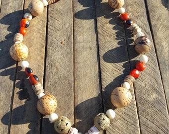 Necklace from Peru, Ghana, Togo, Brazil