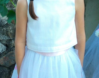 Wedding: white cotton top