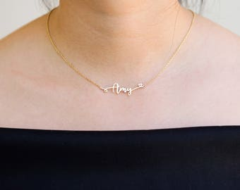Personalized Dainty Necklace • Custom Name Necklace • Children Name Necklace • Minimalist Necklace • Layering Heart Necklace D2-MLB26