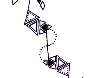 geometric arrow design