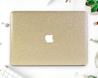 Glitter Macbook Pro 2017 Macbook 2016 Case Gold Laptop Case Macbook Hard Case Macbook Air Glitter Macbook Air 13 Macbook Pro 2016 AMM2065