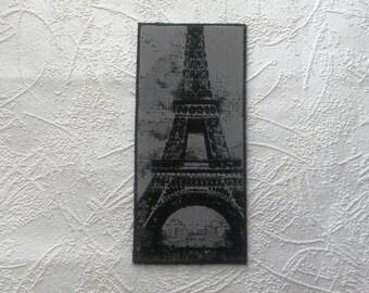 Happy travel greeting card Bon Voyage card Travelling card Goodbye card Leaving card Holiday Adventure card Handmade Art card Eiffel tower