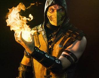 scorpions mask scorpion mortal kombat x cosplay halloween mk mkx