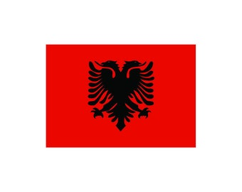 Albanian Flag Etsy - Albanian flag