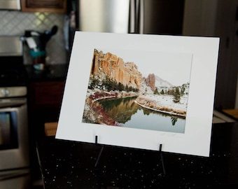 Crooked River at Smith Rock State Park - Matted Print