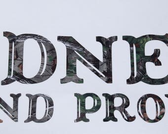 Redneck and Proud  Camo Vinyl Decal