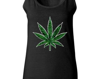 Marijuana Leaf Weed High 420 Friendly Marijuana Sleeveless Tops Women Tank Top Best Seller Designed Women Tanks