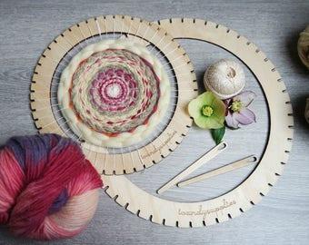 Large Weaving Loom - Circular Loom Kit- DIY Loom Weaving - Yarn and Loom Kit - Weaving Frame Loom - DIY Wall Hanging Kit - Weaving Lap Loom