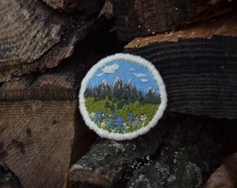 mountain scene patch