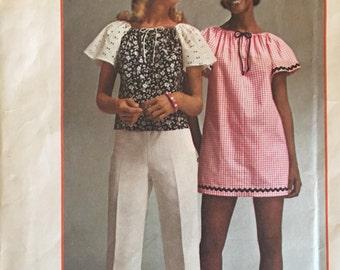 Simplicity 5468 Super Simple Mini Dress or Top 1972