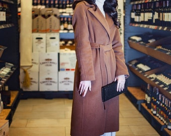 BASIC CAMEL COAT/