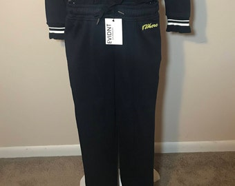 Brand New Dark Blue Woven Long Pant with #Where Logo