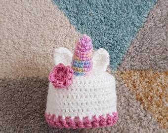 Baby Unicorn crochet hat