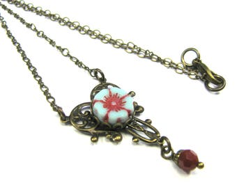 "Bohemian Inspired Czech Glass Collection - ""Amalie"" Necklace"