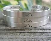 virginia state cuff bracelet / virginia state pride / sorority sister gift / mwc uva vt odu jmu / virginia tech / virginia is for lovers