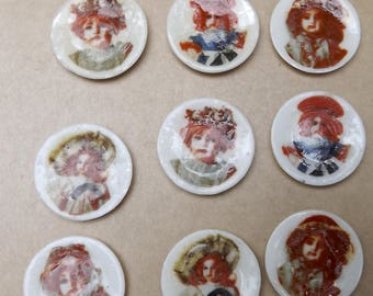 Tiny Dollhouse Lot of 9 Victorian Doll Dishes Porcelain