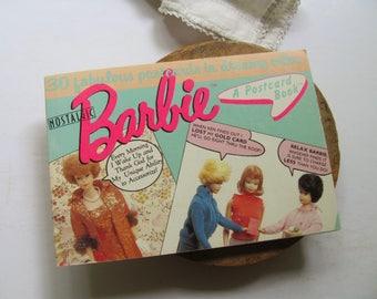 Vintage Barbie Postcard Book 27 Unused Postcards Barbie Doll Ken Midge Blank Greeting Cards Stationery Vintage Barbie Humor Fashion Dating