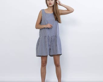 Big Summer Sale Plad Overall, printed Jumpsuit,sleeveless romper,plad .