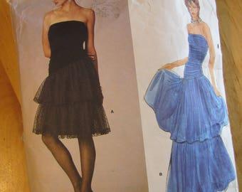 Uncut Vogue Sewing Pattern 1623 - Kasper  -  Misses Dress - Size 10