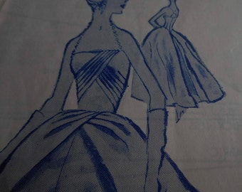 Vintage 1960's Modes Royale 1739 Evening or Bridal Gown Sewing Pattern, Size 12 Bust 32