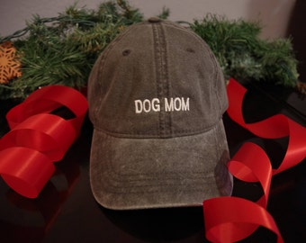 Dog Mom : Embroidered Hat or Visor