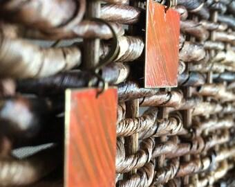 Burst of Rays Hand Painted Metal Earrings