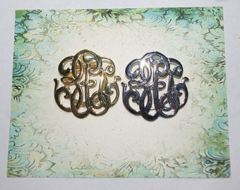 2 Scarf Clips - 1 Gold Tone and 1 Silver Tone - S2112