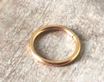 24K Solid Gold Hoop Ring, 24K Gold Nose Ring, 24K Gold Cartilage Ring, Dainty, Bridal, Hypoallergenic, Pure Gold, Solid Gold Earrings