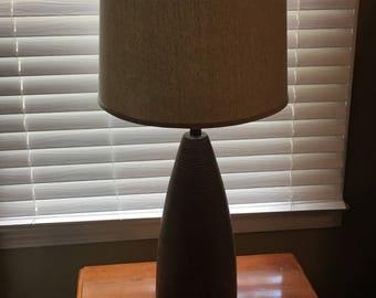 Pair Exquisite Signed Martz Large Incised Ceramic Mid-Century Lamps Marshall Studios