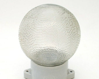 "Industrial vintage, wall lamp :""Boule Dots """