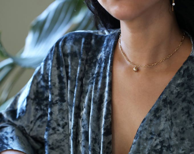 Statement Necklace // Bold Halo Bar Chain Necklace // E&E PROJECT
