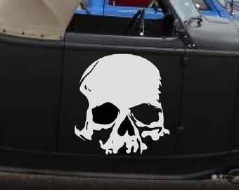 Skull Decal from 7 to 22 inches available sticker wall decal evil removable laptop skin car graphics truck room decor goth gothic metal AA26