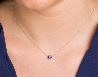 Evil Eye Necklace, Kabbalah Necklace, Protection Necklace, Bridesmaid Jewelry, Christmas Gift