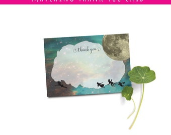 Peter Pan Thank You Note Add-on | Instant Download | Peter Pan Baby Shower Invitation | Neverland Baby Shower Invitation |  Cosmic