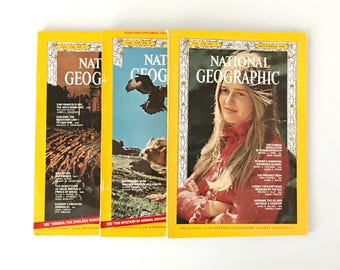 Vintage National Geographic Fall 1969 / 1960s Nat Geo / National Geographic Magazine / Vintage Photography, Vintage Ads, 1960s Photos