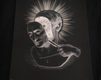Jupiter's Sacrifice, fine art printed on quality textured 300gr r limited edition
