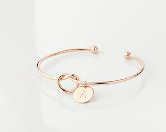Tie the Knot Bracelets for women Bridesmaid Proposal Gift sorority gift Bridesmaid gift Rose Gold best selling items - KBR